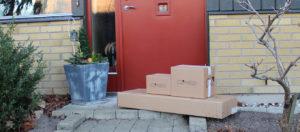 Lieferung Geländer, Anlieferung, Pakete, Annahme