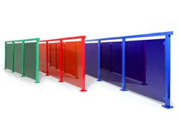 Alu Color – Glasgeländer in jeder Farbe