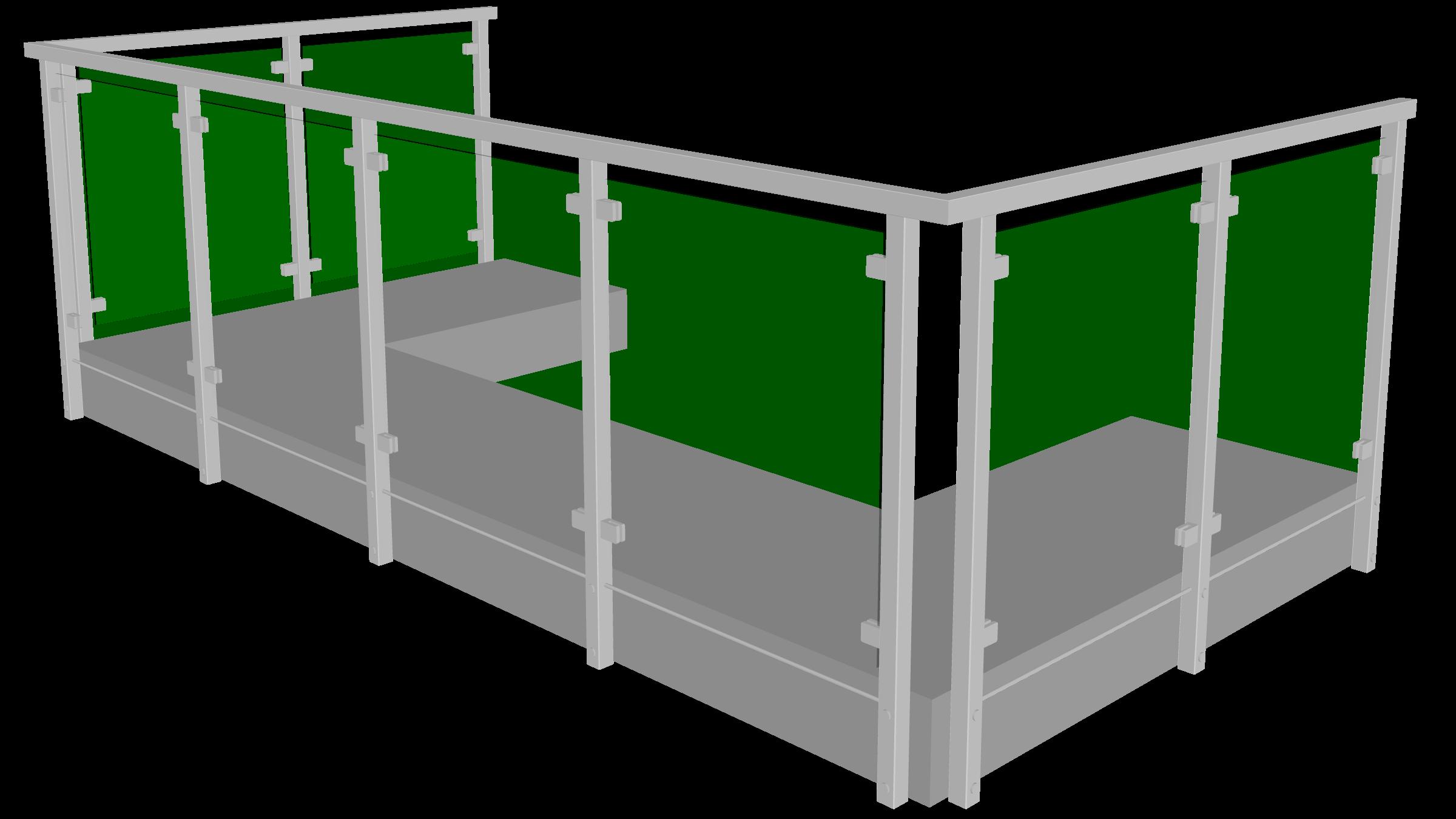 Aluminiumgeländer für terrasse
