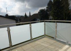 Glasgeländer, Balkon/Terrassen, Satiniertes/Milchglas