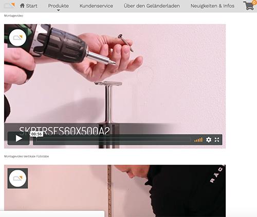 montagevideo geländerladen