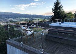 Glasgeländer für Terasse, Veranda und Balkone