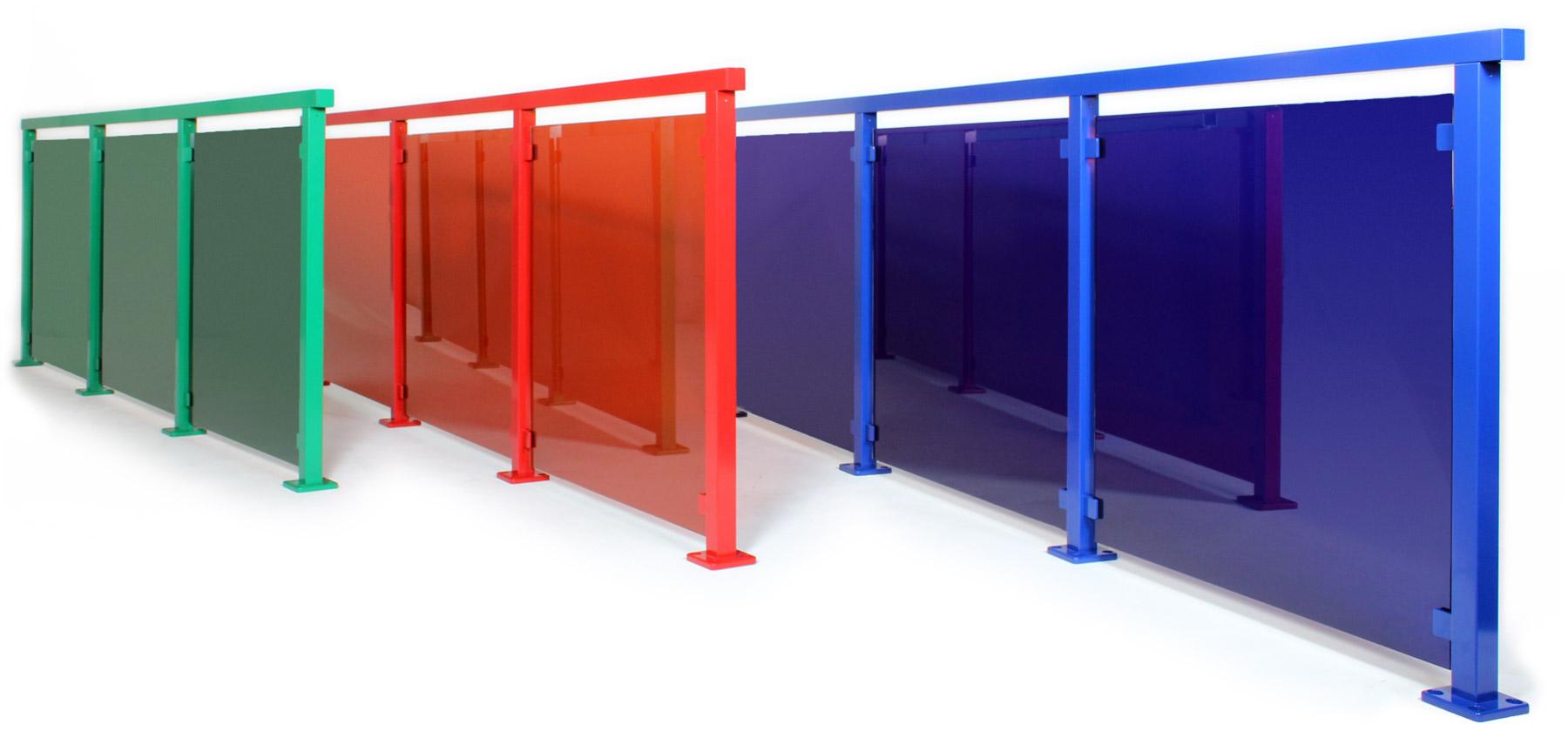 Alu color   glasgeländer in ihrer wunschfarbe & form ...