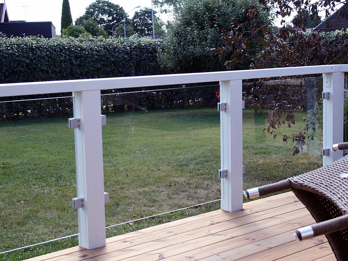 Terrassengeländer maßgefertigte Bausätze mit Glas