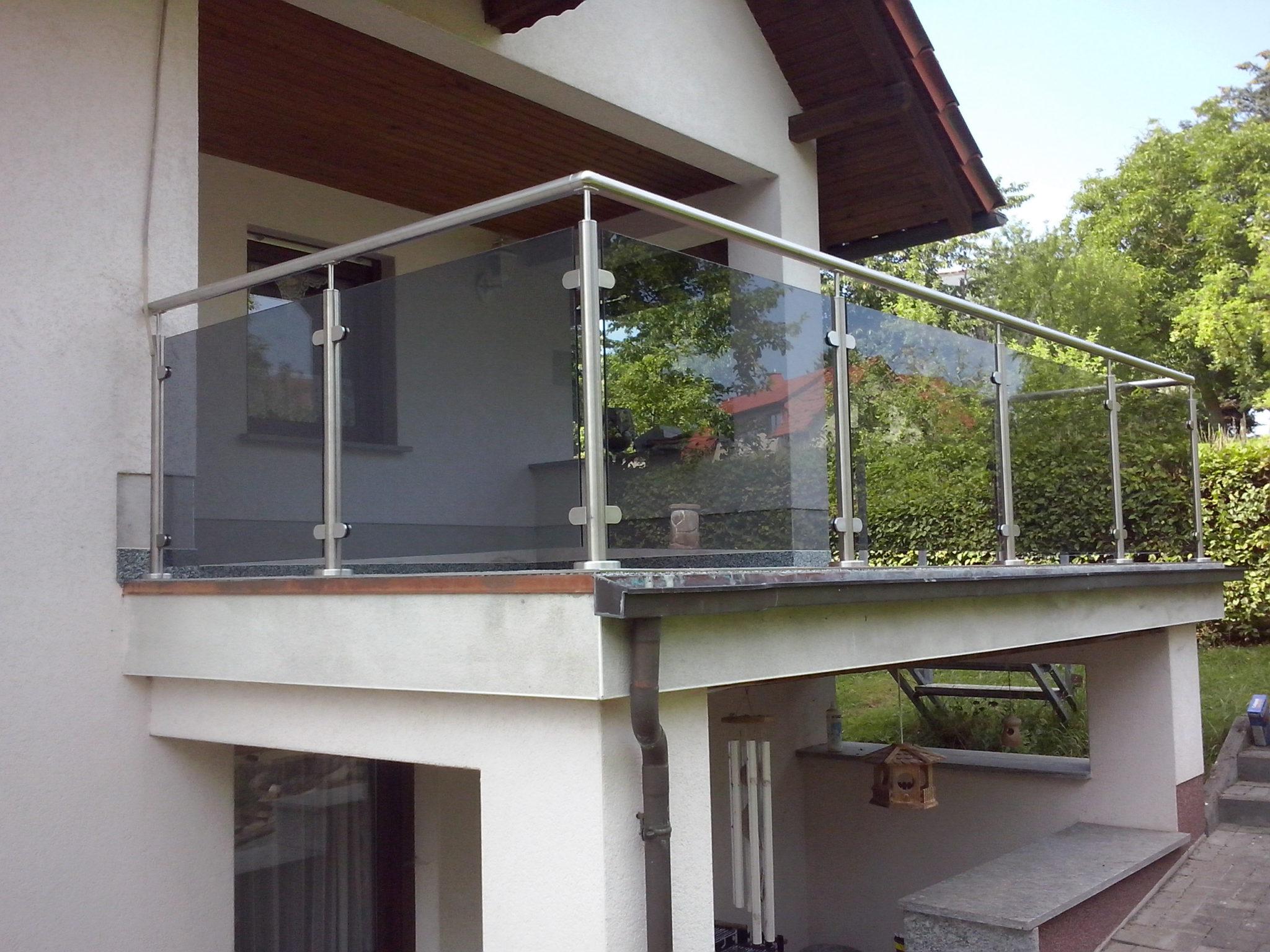 Edelstahlgeländer mit Glas Komplette Bausätze