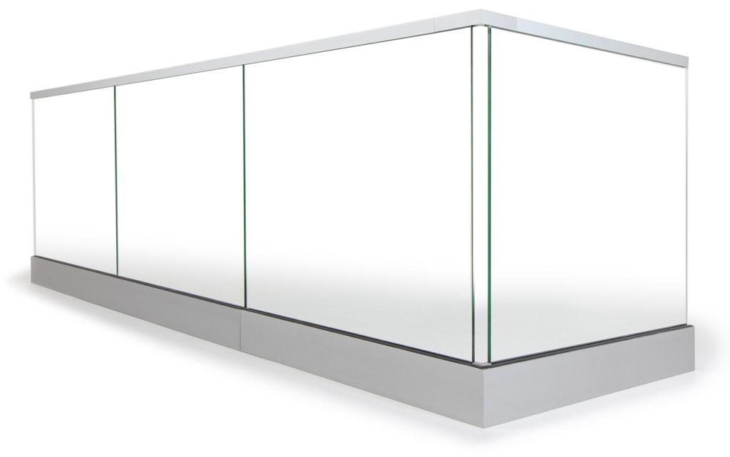 Glasgeländer Aus Aluminium, Edelstahl & Ganzglas | Geländerladen Neue Gelander Fur Terrasse Und Balkon Aus Holz Edelstahl Oder Glas